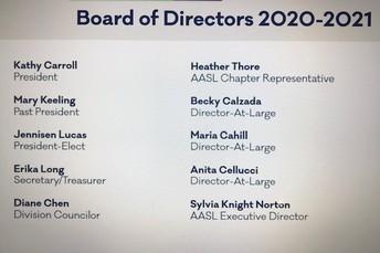 AASL 2020-2021 Board of Directors