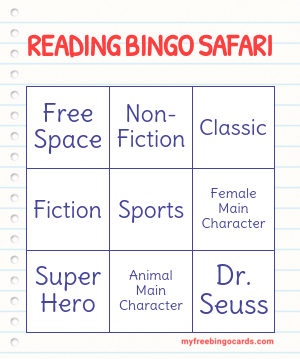 READING BINGO SAFARI