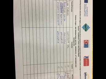 Signature list 15 November 2019