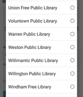 Choose your library from the list.