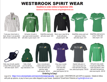 Westbrook PTO Spirit Wear
