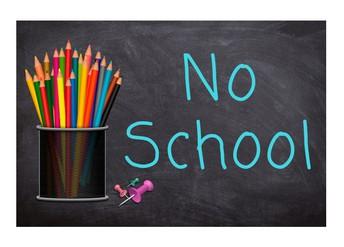 No School/No hay escuela...