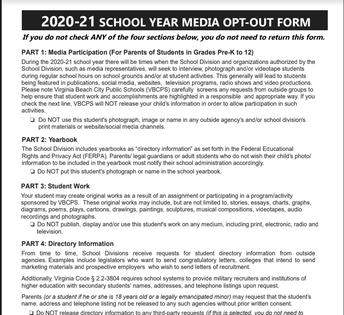 Media Opt Out Form