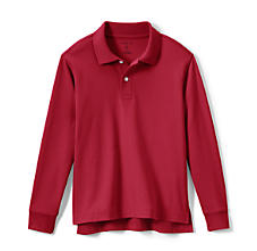 Sample red long-sleeved polo without logo