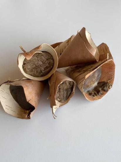 Ojibwe maple sugar cones
