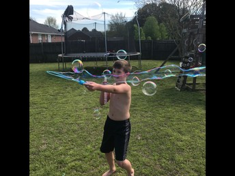 Fisher is moving around and creating bubbles.