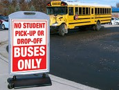 Student Drop-off Safety Alert