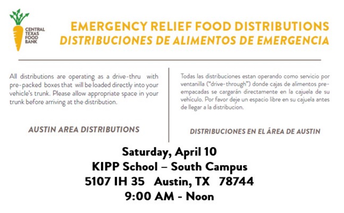 emergency relief food distribution sites