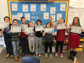 3rd grade Perfect Attendance Awards for February 2018
