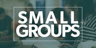 Afternoon small groups schedule for the beginning of October