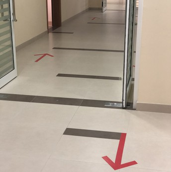 One way movement in corridors
