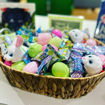 Easter Basket in the Library