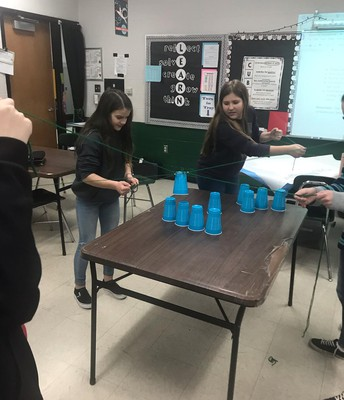 Tribes cup stacking activity!