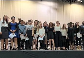 Spanish Honor Society Induction Ceremony