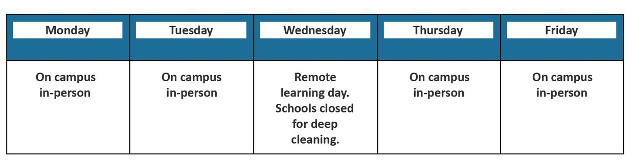 Decorative image of a student schedule