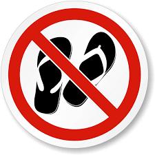 No Flip Flops