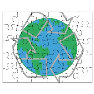 Recycled Puzzle Earth
