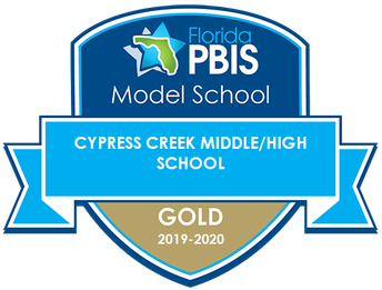 CCHS is a Gold Rated Florida PBIS Model School!