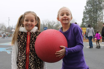 Playing with fiends on the playground!