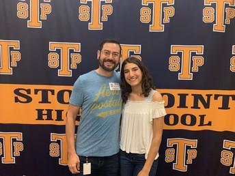 Salutatorian, Samantha Lopez and proud dad