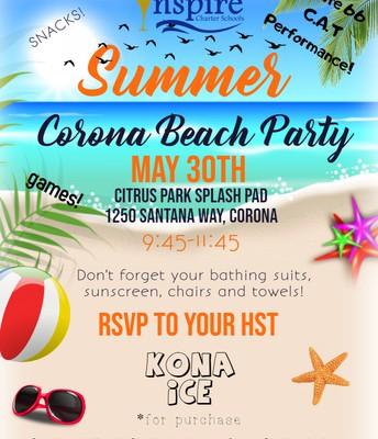 Inspire's Summer Corona Beach Party!