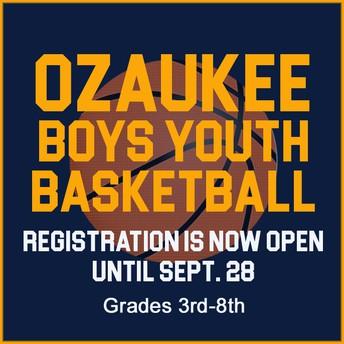 Boys Youth Basketball grades 3rd-8th