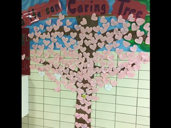 Hearts Are Added To The Tree For Caring Acts!