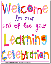 End Of Year Learning Celebrations