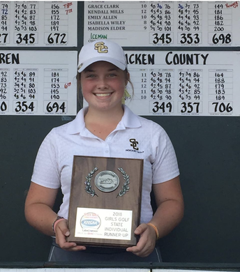 Grace Clark, SCHS, Named Golfer of the Year