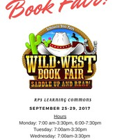 Wild West Book Fair: Sept. 25th - 29th