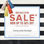 My favorite four-letter word...SALE!