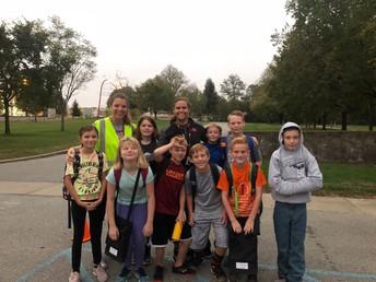5th Graders Walk to School Participants