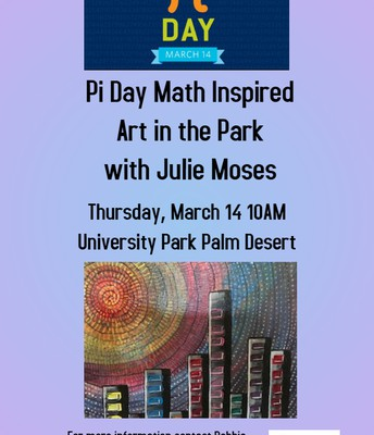 Pi Day Art in the Park