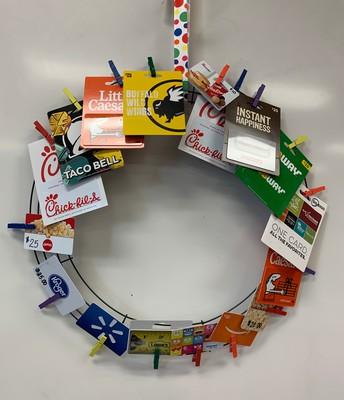 Gift Card Wreath