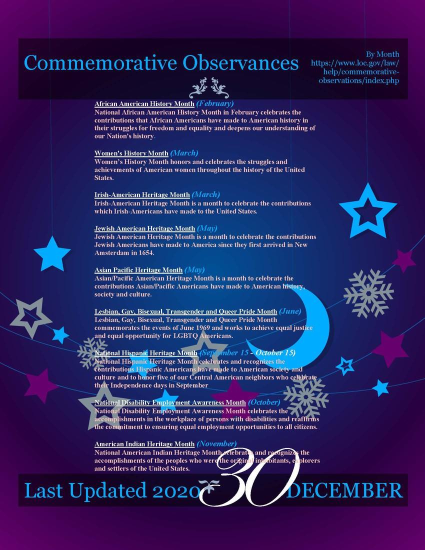 Commemorative Observances