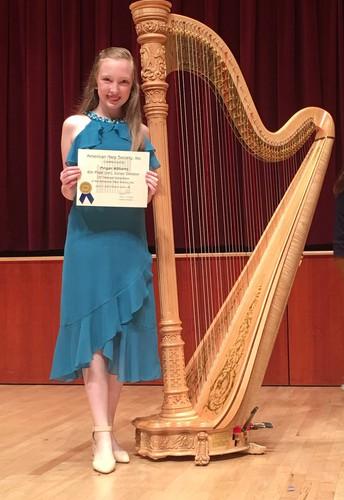 ACP Oakland 7th Grade Harpist Places Nationally