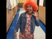 Mrs. O'Brien shout out to Crazy Hair Day