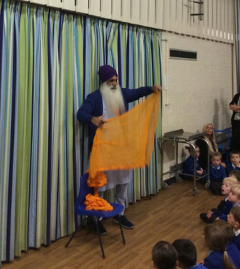 Roop Singh - our Y4 visitor on the Sikh experience day
