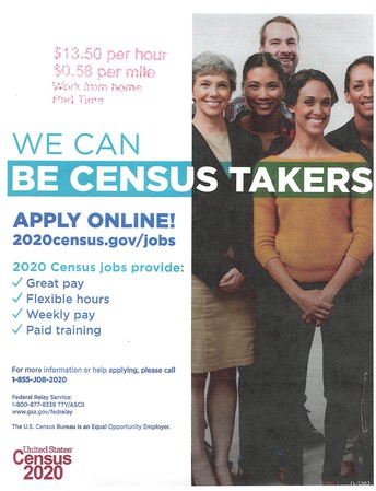 CENSUS 2020 Workers Needed
