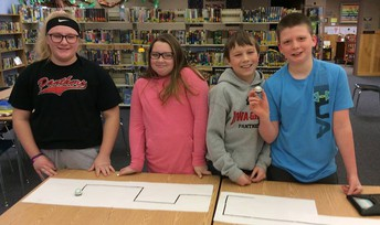 6th Graders Race Ozobot Bits