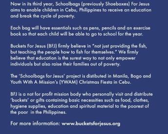 Schoolbags for Jesus