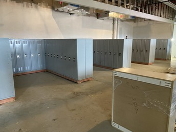 Lockers being added!!!
