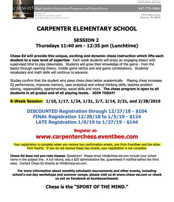 Carpenter Chess Ed Flyer