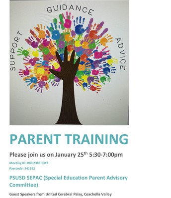 Special Education training flyer