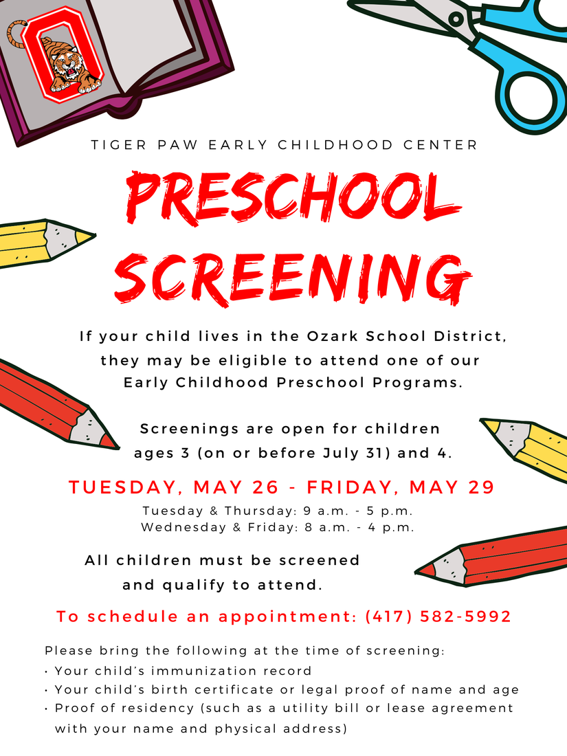 Preschool screening graphic