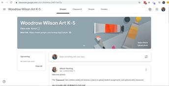 K-5 Woodrow Wilson Art Google Classroom