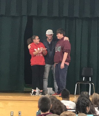 Tom Coverly Performs at Mullica School
