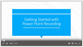 Station Two:  PowerPoint Recording