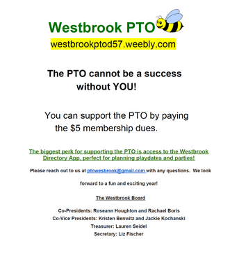 Join the Westbrook PTO