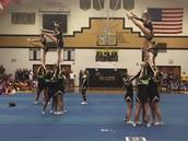 Cheerleaders at Pep Assembly
